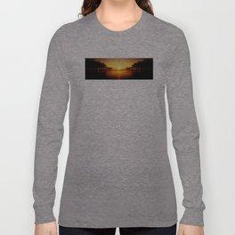 Pier Mirrored Sunset Long Sleeve T-shirt