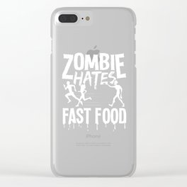 Halloween Zombie Fast Food funny costume gifts Clear iPhone Case