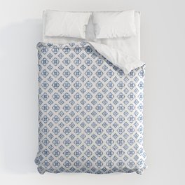 Muted royal blue delicate boho pattern. Comforters
