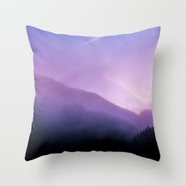 Morning Fog - Landscape Photography Throw Pillow
