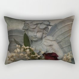 Angel and Rose Rectangular Pillow