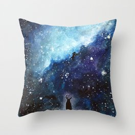 I can hardly breathe. Throw Pillow
