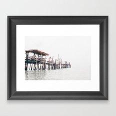 wooden pier Framed Art Print