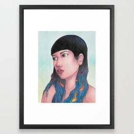 Waves of Thought Framed Art Print