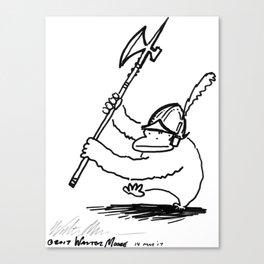 Ape Halbardier in Plumed Morion Canvas Print