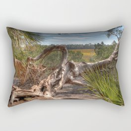 Driftwood twisted and bent Rectangular Pillow
