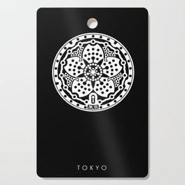 Tokyo Sakura Manhole Cover Cutting Board