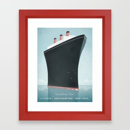 Vintage Travel Poster - Cruise Ship Framed Art Print