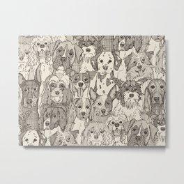 dogs aplenty natural Metal Print