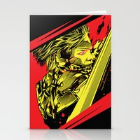 metal gear Stationery Cards featuring Metal Gear Rising by HyperTwenty