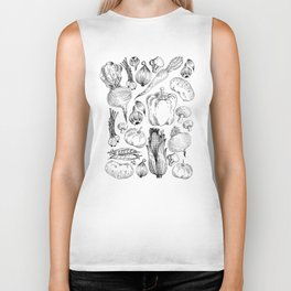 market fresh vegetables Biker Tank
