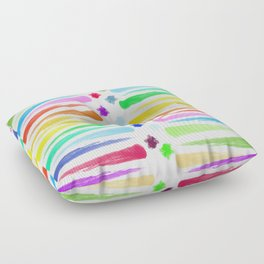 Rainbow Stripes Floor Pillow