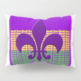 Mardi Gras  tri color with Fleur de lis Pillow Sham