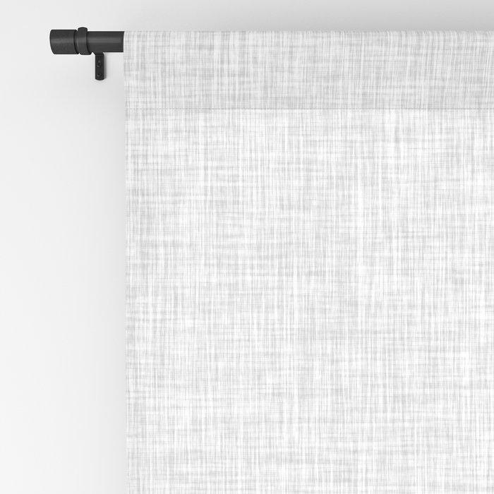 Black and White Graphic Burlap Pattern Stripe Blackout Curtain