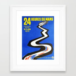 24hs Le Mans, 1972, vintage poster Framed Art Print
