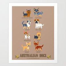 AUSSIE DOGS Art Print