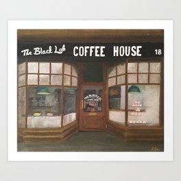 THE BLACK LAB COFFEE HOUSE Art Print