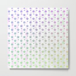 Ombre asterisk star large snowflakes Metal Print