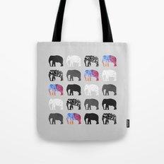 Five elephants Tote Bag