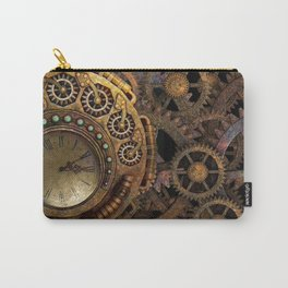 Steampunk gears background Carry-All Pouch