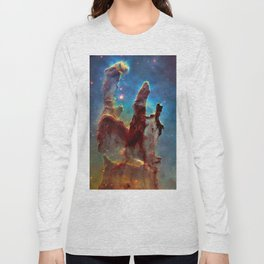 picture of star by hubble: pilliers of the creation. Long Sleeve T-shirt