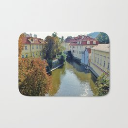 Watermill on Vltava River Bath Mat