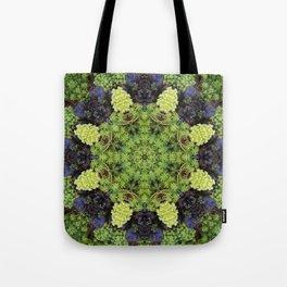 Filigree Foliage Kaleidoscope Tote Bag