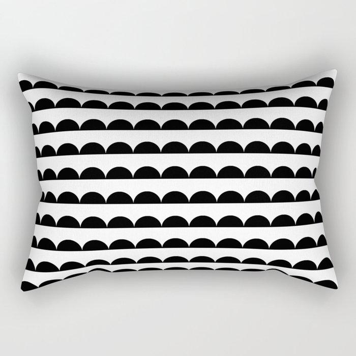 Scallop - Black and white minimal design print hipster urban city brooklyn socal san francisco bay p Rectangular Pillow