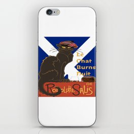 Le Chat Burns Nuit Haggis Dram Scottish Saltire iPhone Skin