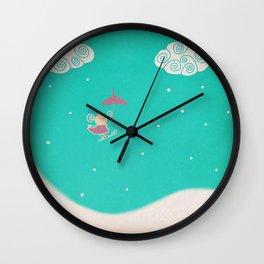 Snow dreaming Wall Clock