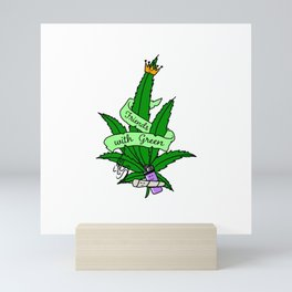 Friends with green are better Mini Art Print