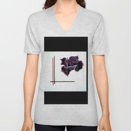 Abstract in perfection - Fertile Imagination Rose 5 Unisex V-Neck