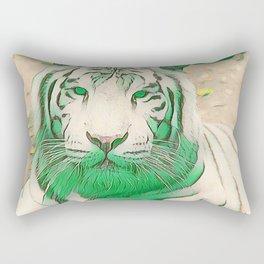 Green Tiger Rectangular Pillow