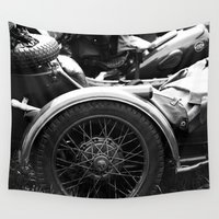 motorcycle Wall Tapestries featuring motorcycle by Falko Follert Art-FF77