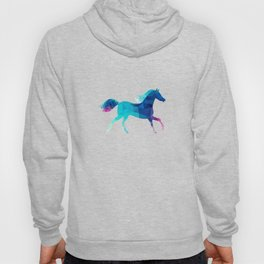 blue horse made of triangles Hoody