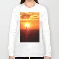 russia Long Sleeve T-shirts featuring sunset in Russia by gzm_guvenc