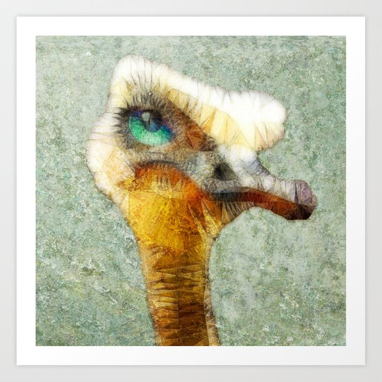 abstract ostrich Art Print