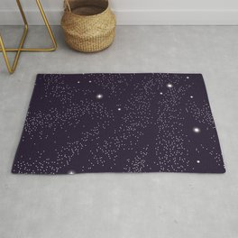 Universe with planets and stars seamless pattern, cosmos starry night sky 005 Rug