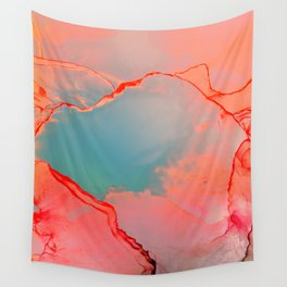 BETTER TOGETHER - LIVING CORAL by MS Wall Tapestry