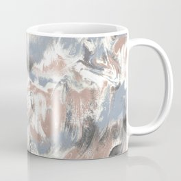 Marble Mist Terra Cotta Blue Coffee Mug