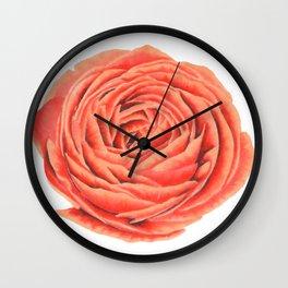 Rose. Big flower Wall Clock