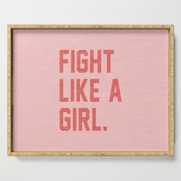 Fight Like a Girl Serving Tray