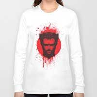 xmen Long Sleeve T-shirts featuring Logan by Fimbis