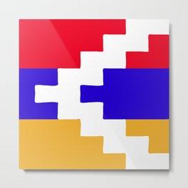 Nagorno Karabakh Republic flag emblem Metal Print