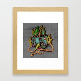 Tree Face Framed Art Print