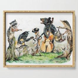 """ Bluegrass Gang "" wild animal music band Serving Tray"