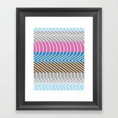 Waveforms Framed Art Print