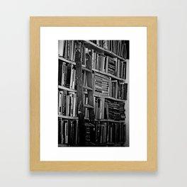 Book Shelves Framed Art Print