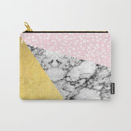 Trini - abstract painting texture gold pastel pink marble trendy hipster minimal art design bklyn  Carry-All Pouch