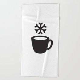 Cold coffee Beach Towel